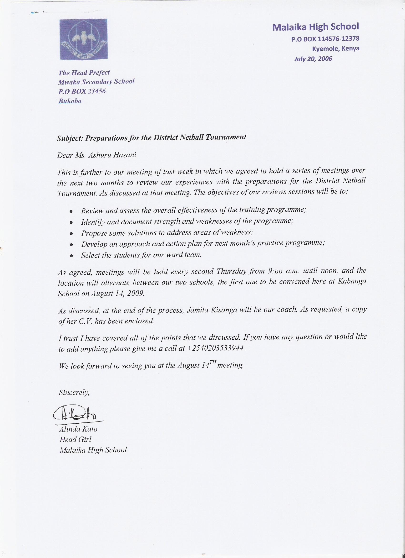unit writing for effective communication formal occasions sample official letter